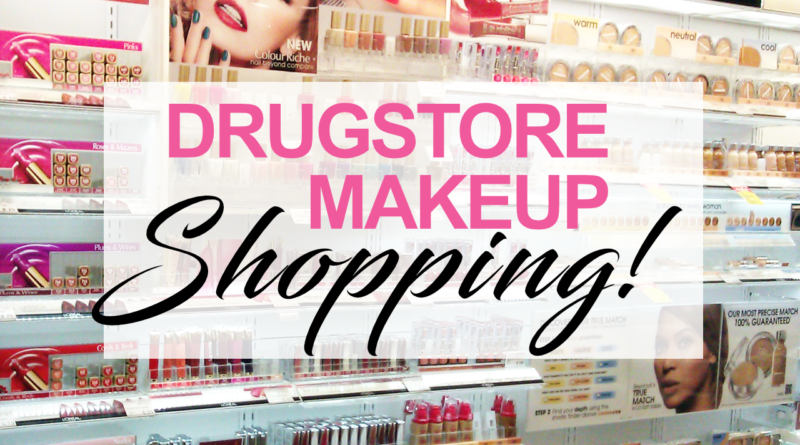 drugstore makeup shopping